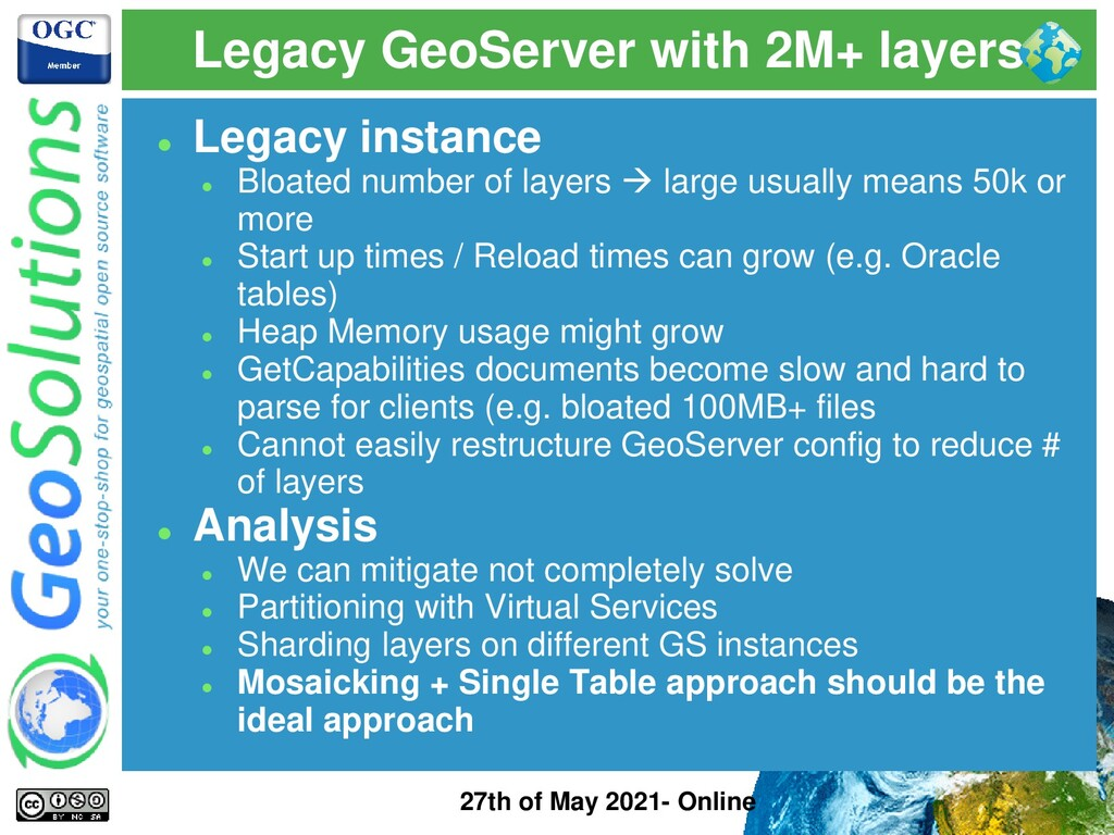 Legacy GeoServer with 2M+ layers 27th of May 20...