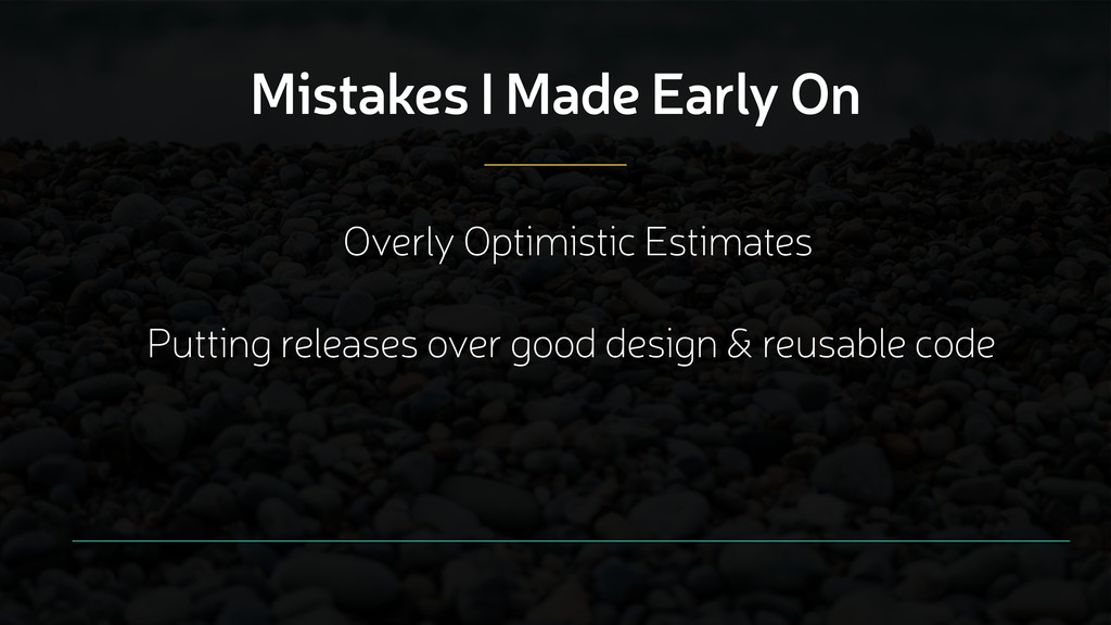 Mistakes I Made Early On Overly Optimistic Esti...