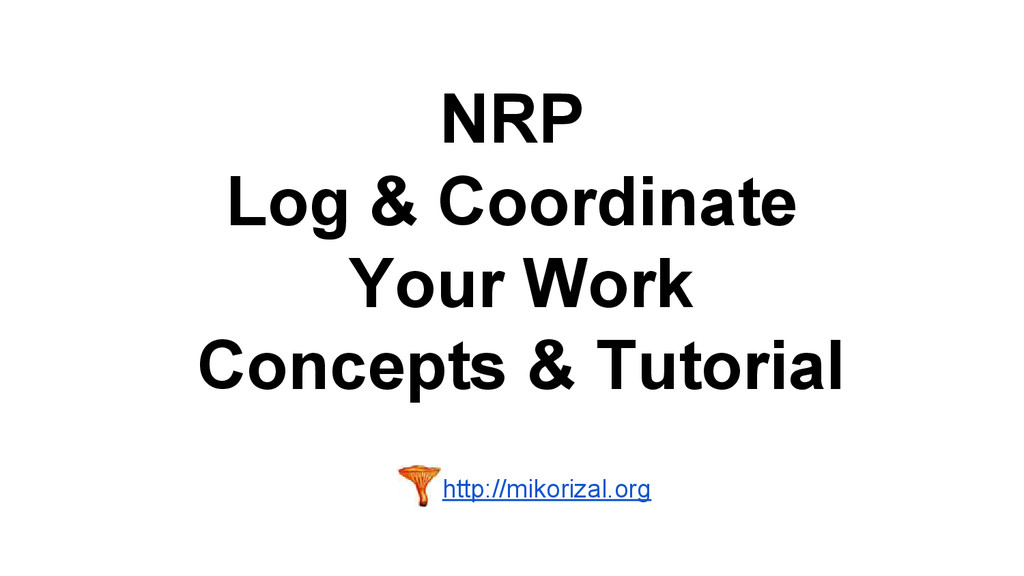 NRP Log & Coordinate Your Work Concepts & Tutor...