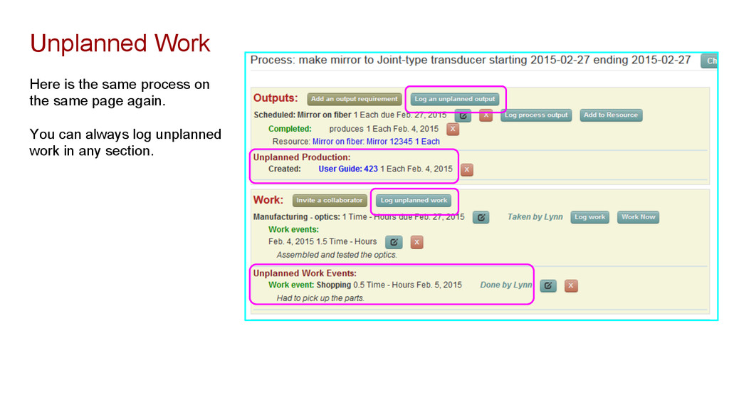 Here is the same process on the same page again...