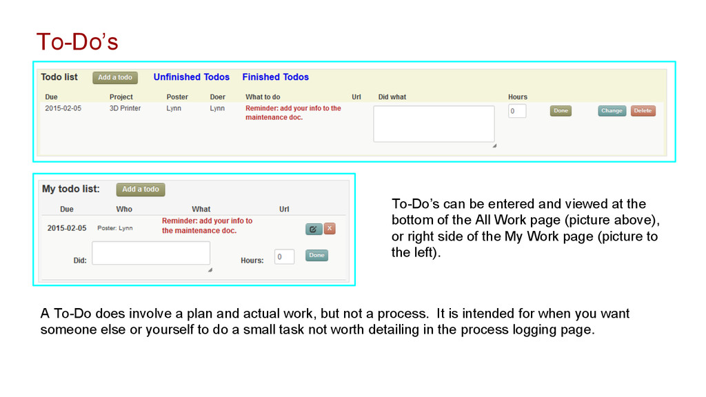 A To-Do does involve a plan and actual work, bu...