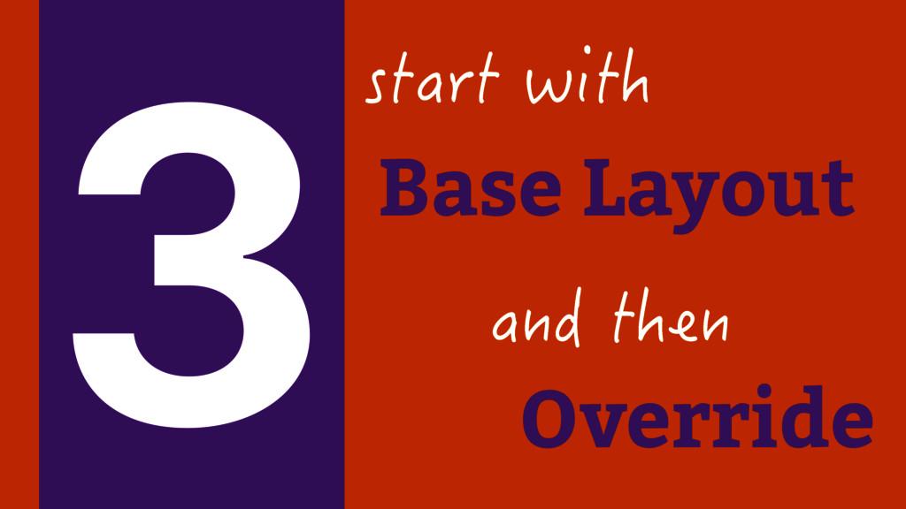 Base Layout UVCTVYKVJ 3 CPFVJGP Override