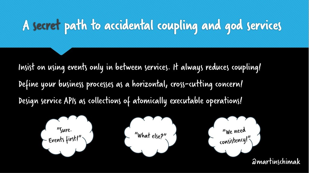 Is A secret path to accidental coupling and god...