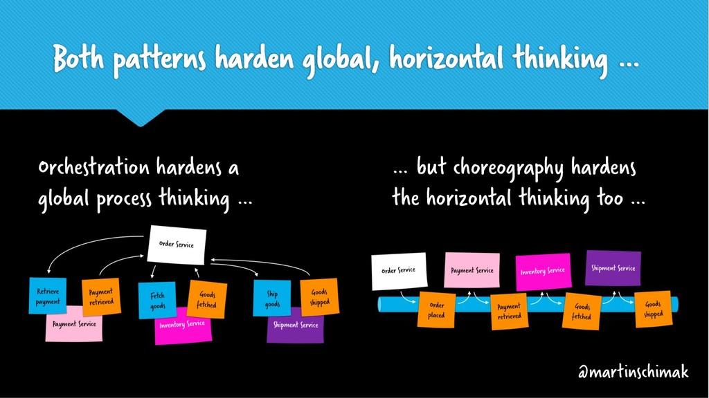 Both patterns harden global, horizontal thinkin...