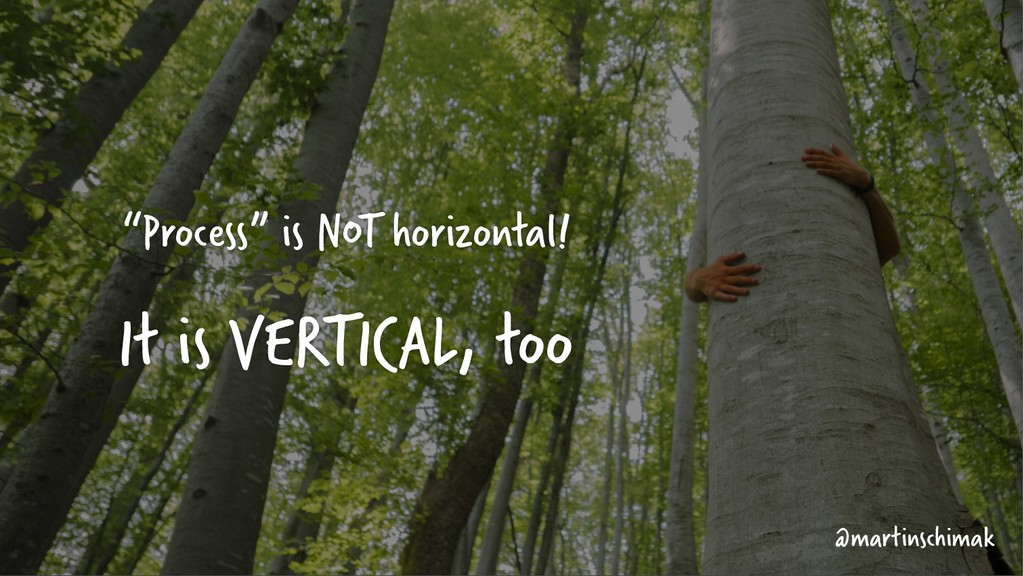 """Process"" is NOT horizontal! It is VERTICAL, to..."