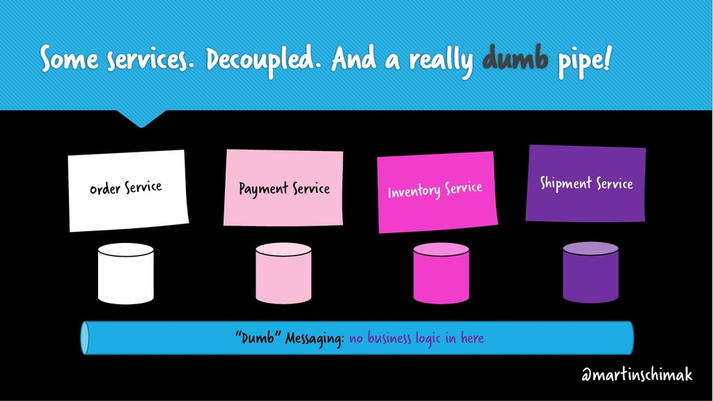 Some services. Decoupled. And a really dumb pip...
