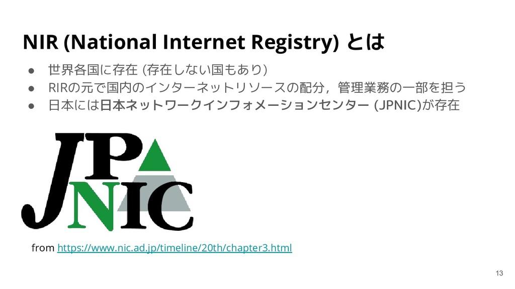 NIR (National Internet Registry) とは ● 世界各国に存在 (...