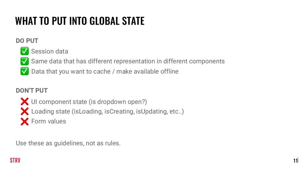 WHAT TO PUT INTO GLOBAL STATE DO PUT ✅ Session ...