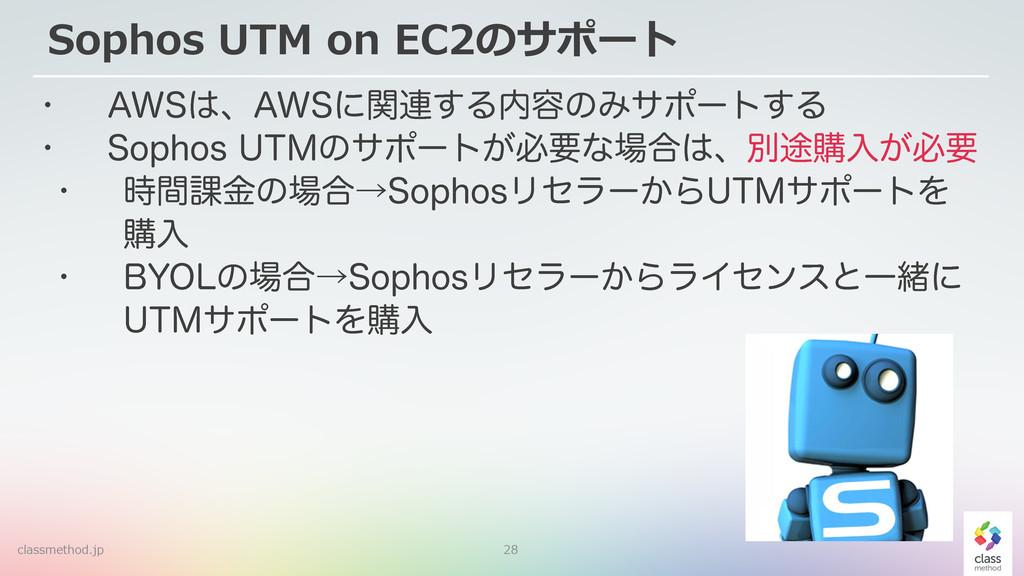 "28 Sophos UTM on EC2のサポート w ""84ɺ""84ʹؔ࿈͢Δ༰ͷ..."