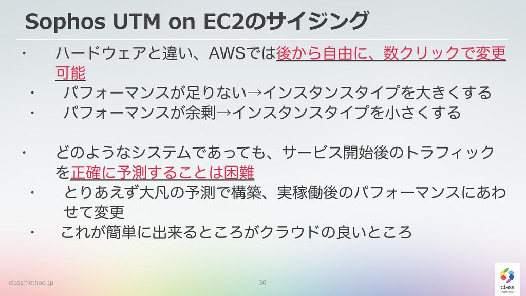 "30 Sophos UTM on EC2のサイジング w ϋʔυΣΞͱҧ͍ɺ""84Ͱ..."