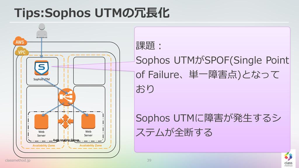 39 課題:  Sophos UTMがSPOF(Single Point  of F...