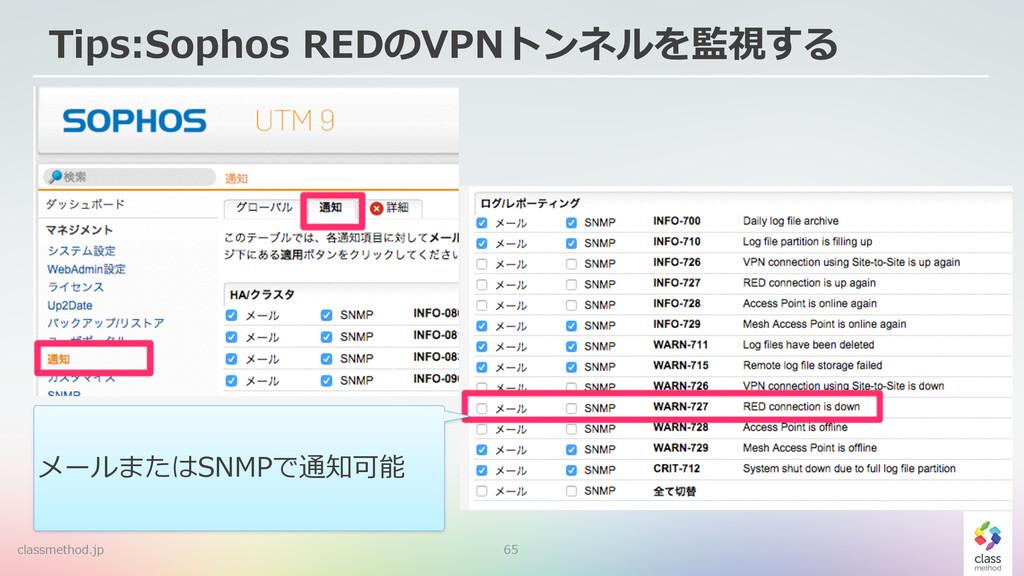 65 Tips:Sophos REDのVPNトンネルを監視する classmethod.jp...