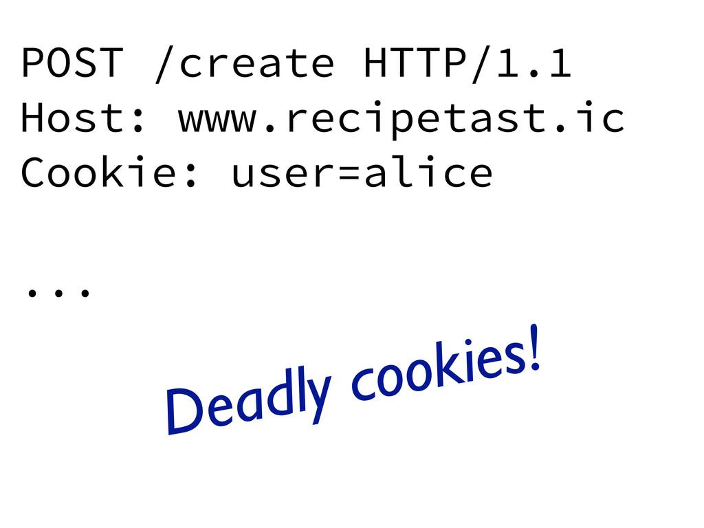 POST /create HTTP/1.1 Host: www.recipetast.ic C...