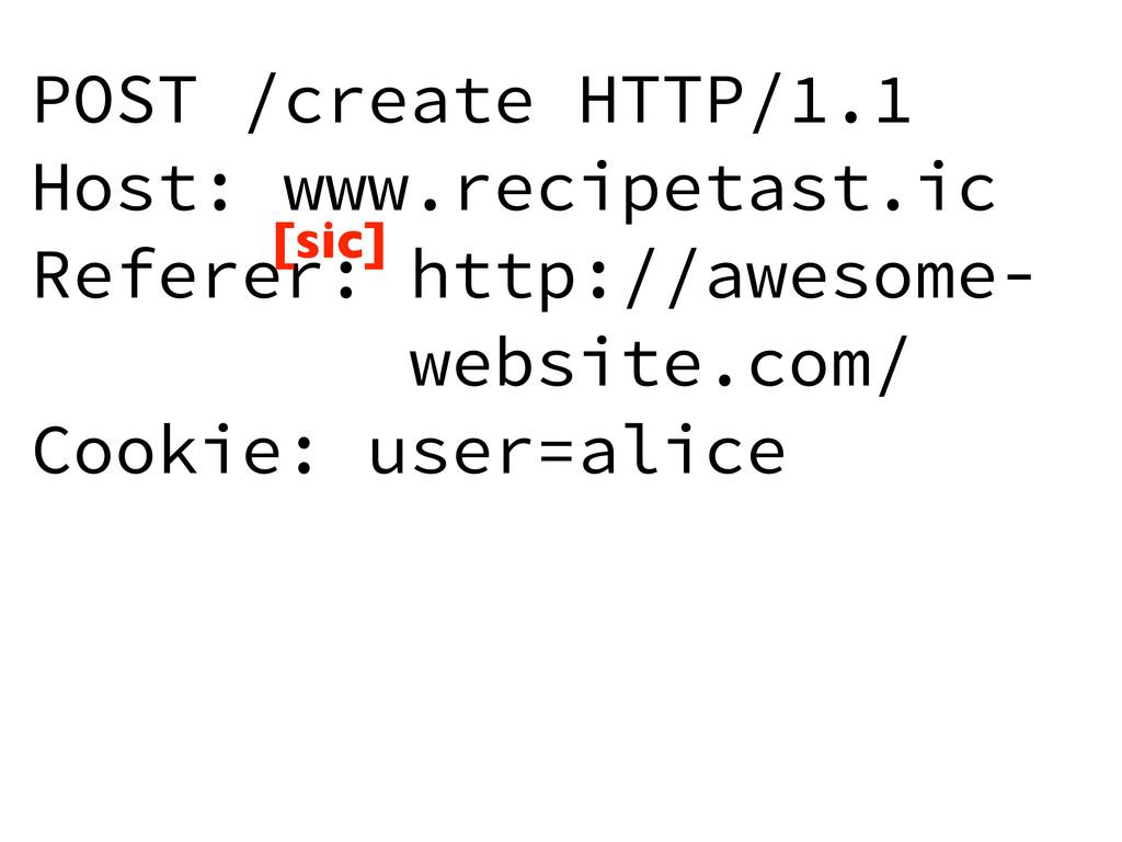 POST /create HTTP/1.1 Host: www.recipetast.ic R...