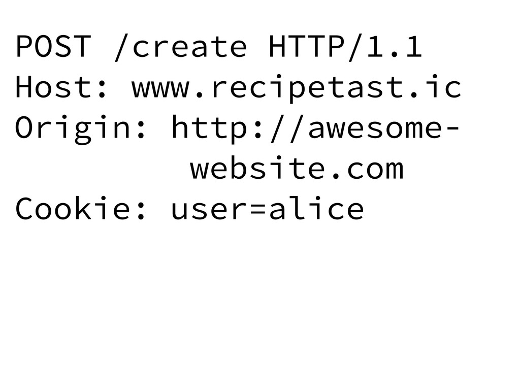 POST /create HTTP/1.1 Host: www.recipetast.ic O...
