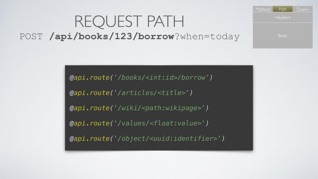 REQUEST PATH POST /api/books/123/borrow?when=to...