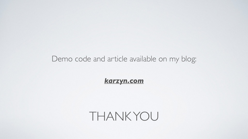 THANK YOU Demo code and article available on my...