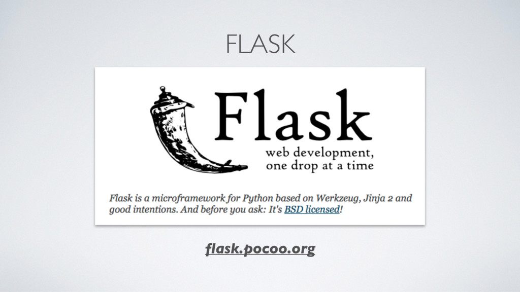 FLASK flask.pocoo.org