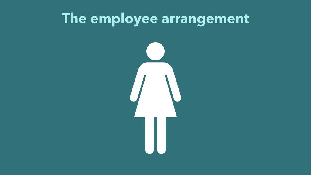 The employee arrangement