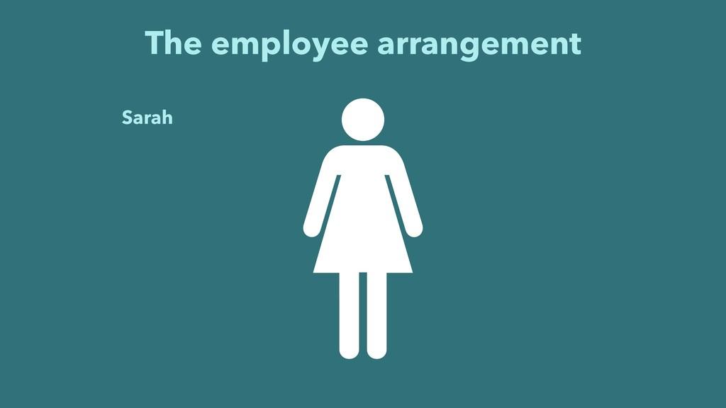 The employee arrangement Sarah