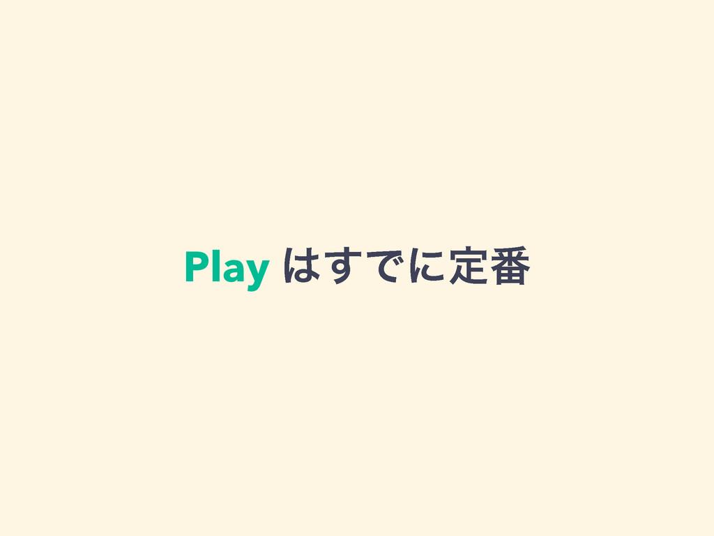 Play ͢Ͱʹఆ൪