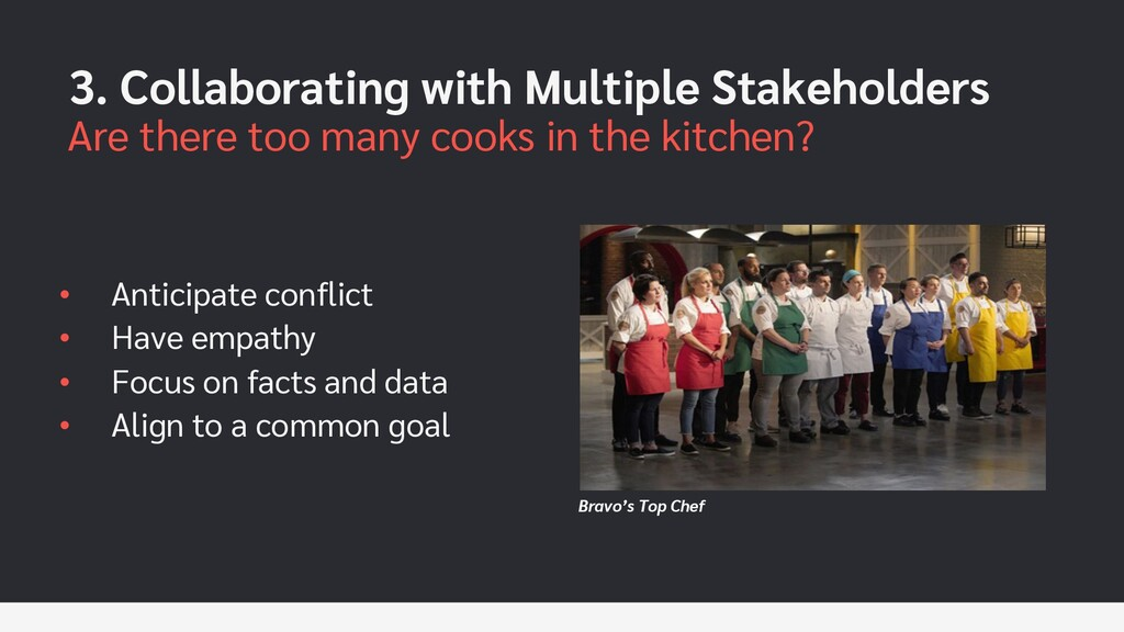 Bravo's Top Chef 3. Collaborating with Multiple...