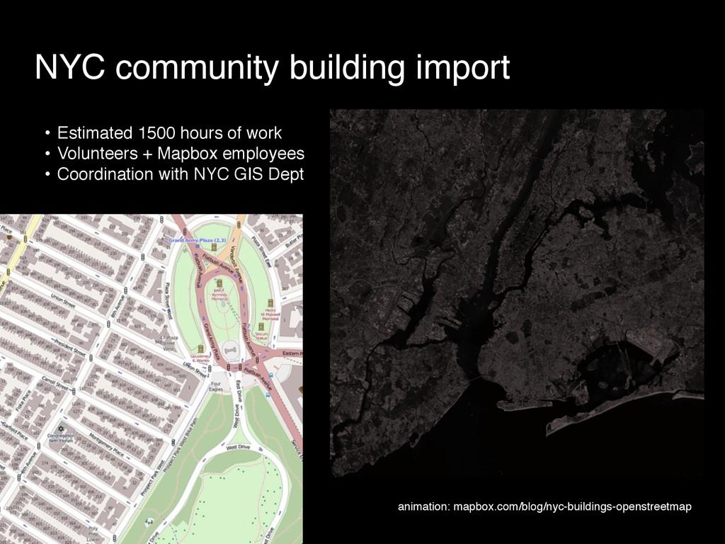 NYC community building import • Estimated 1500 ...