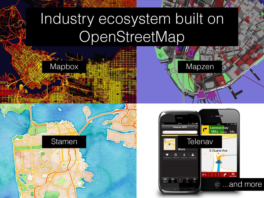 Industry ecosystem built on OpenStreetMap Mapbo...