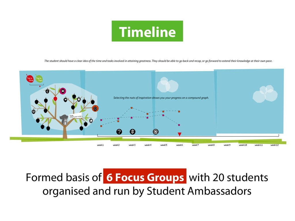 Timeline Formed basis of 6 Focus Groups with 20...