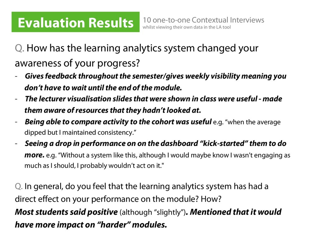 Q. How has the learning analytics system change...