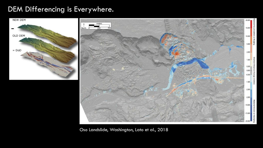 DEM Differencing is Everywhere. Oso Landslide, ...