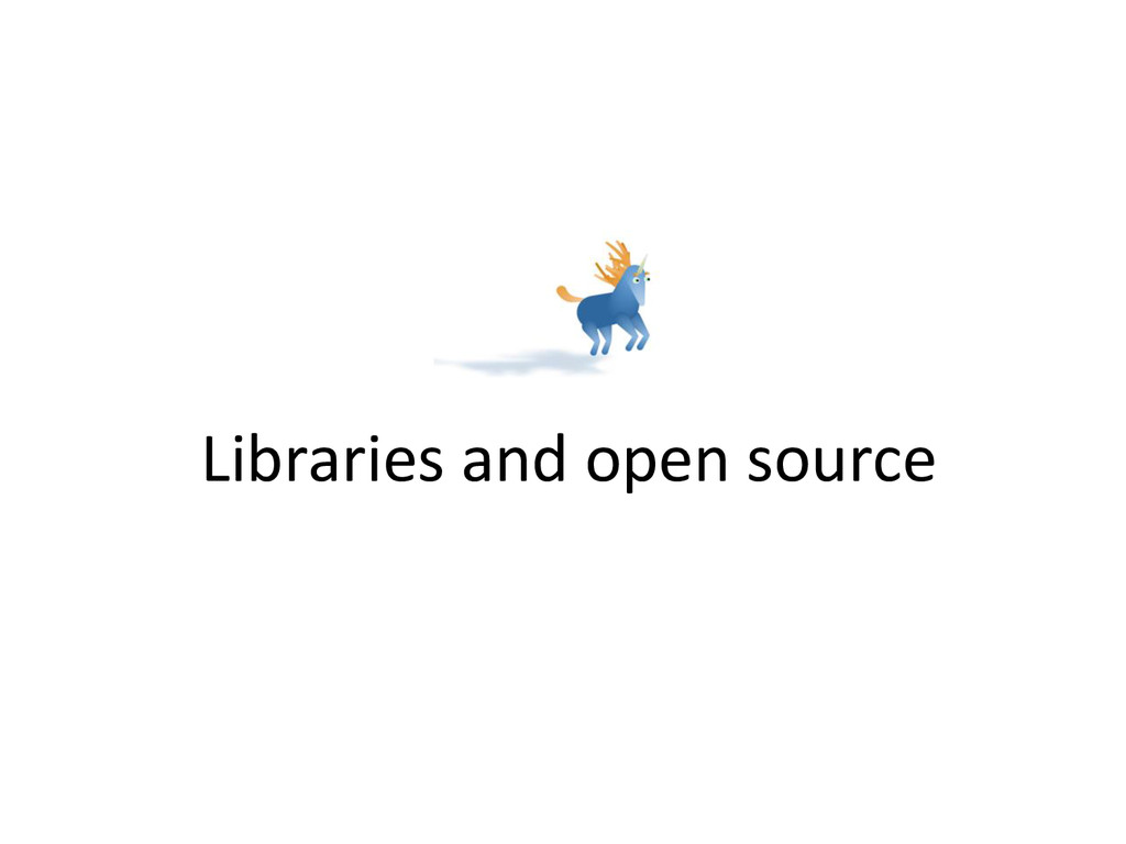 Libraries and open source