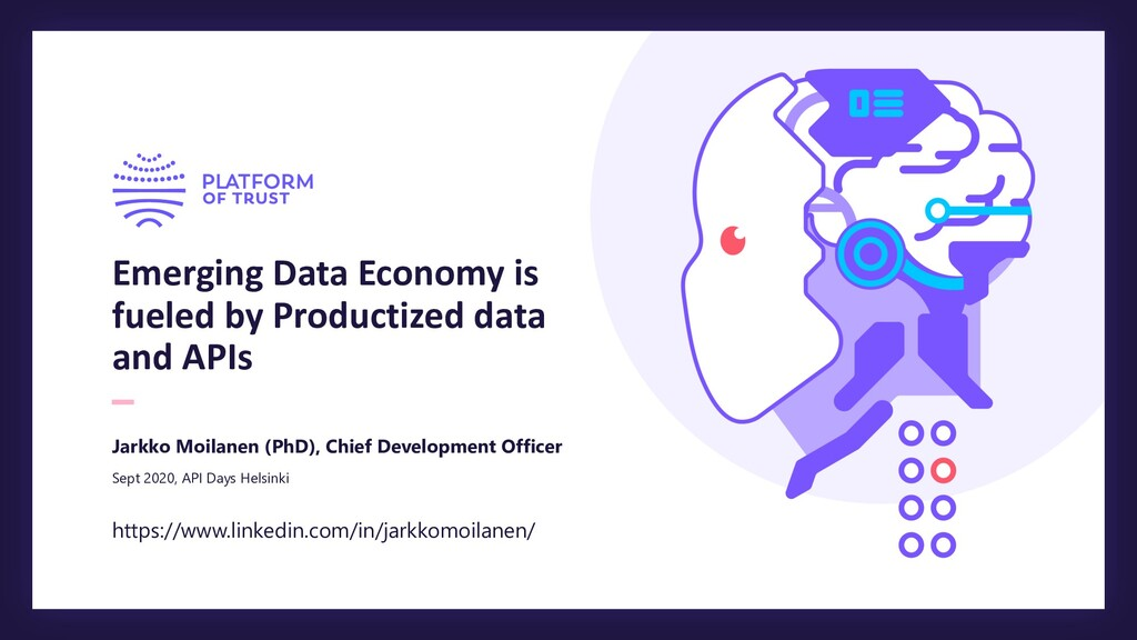 Emerging Data Economy is fueled by Productized ...