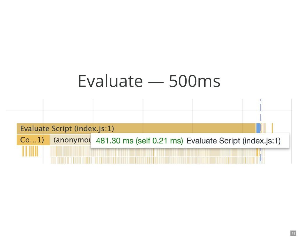 Evaluate — 500ms 13