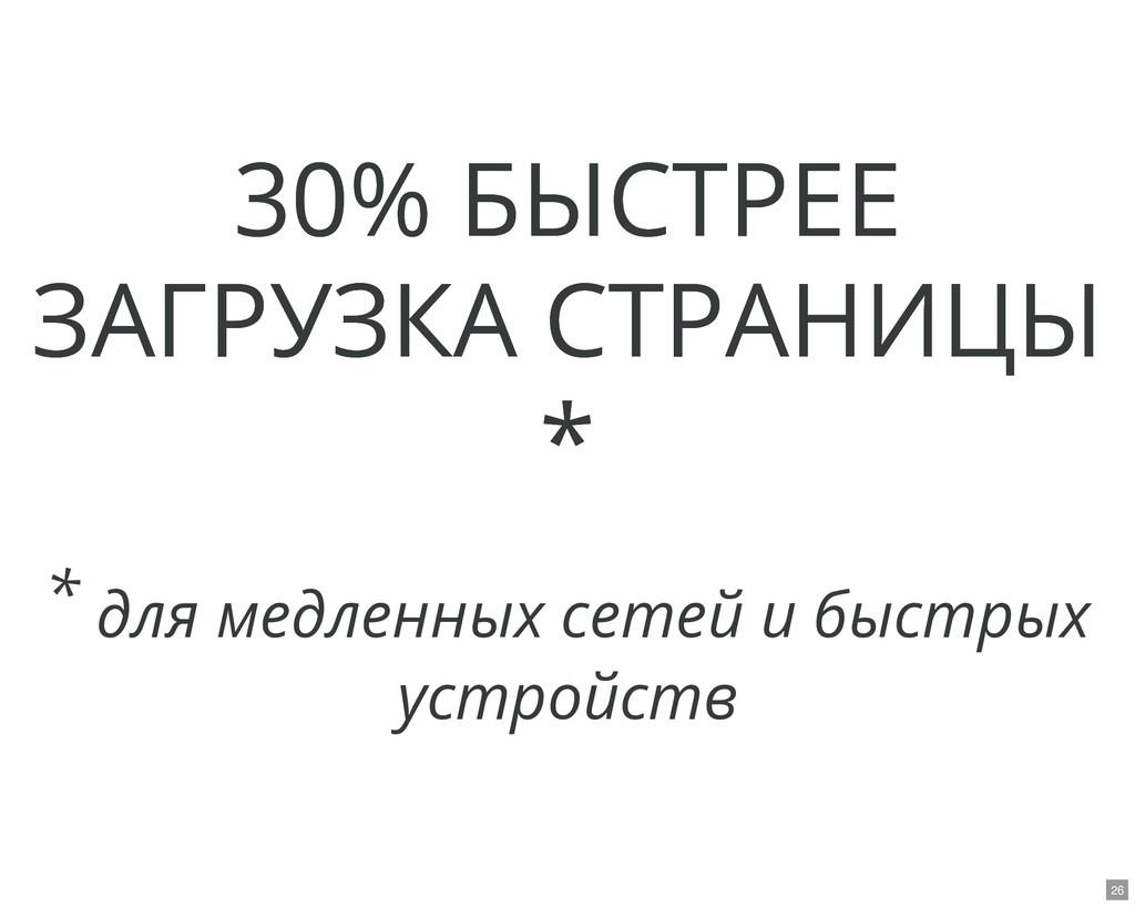 30% БЫСТРЕЕ 30% БЫСТРЕЕ ЗАГРУЗКА СТРАНИЦЫ ЗАГРУ...