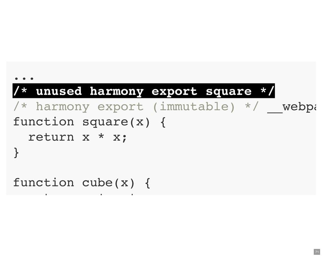 ... /* unused harmony export square */ /* harmo...