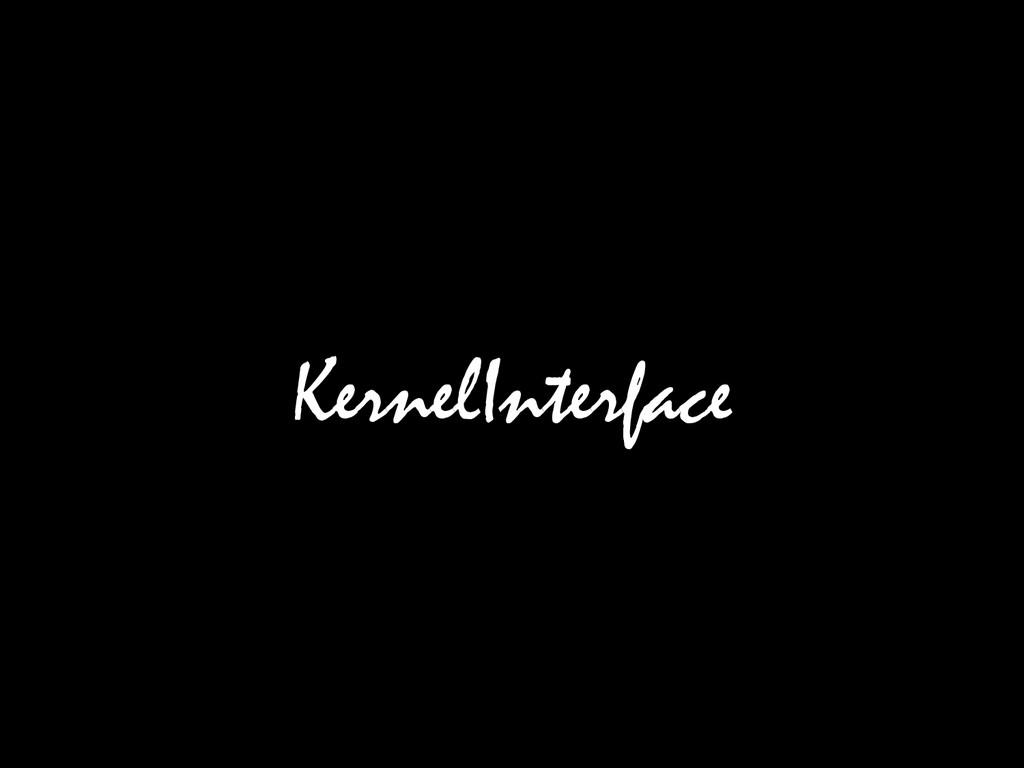 KernelInterface