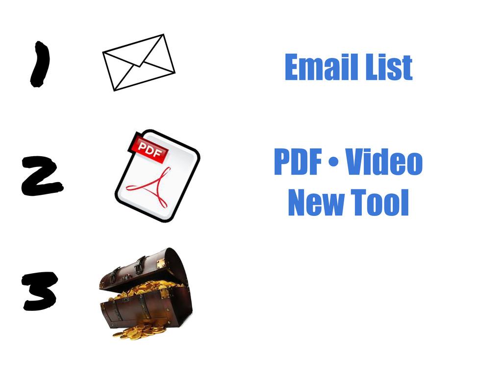 Email List PDF • Video New Tool
