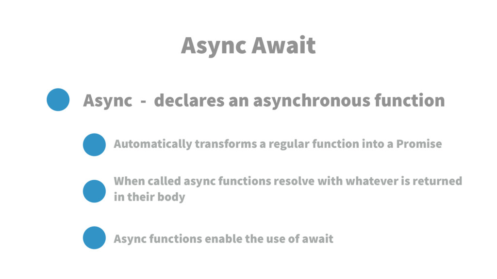 Async Await Async - declares an asynchronous fu...