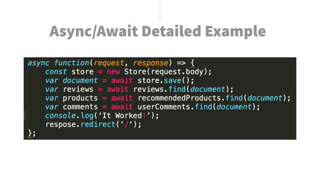 Async/Await Detailed Example