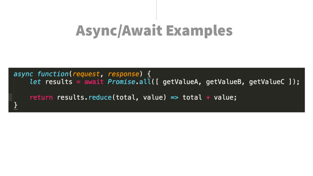 Async/Await Examples
