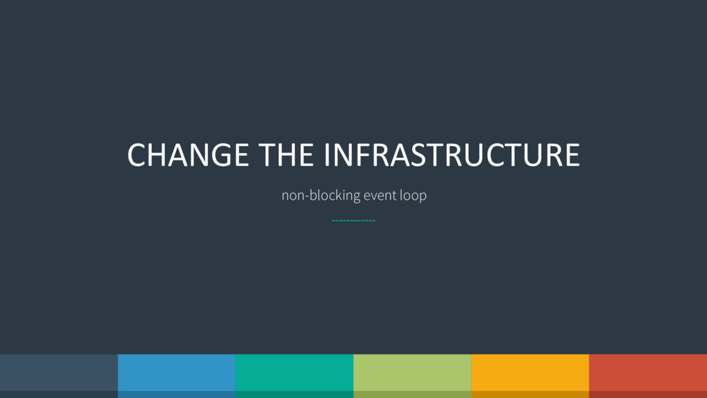 CHANGE THE INFRASTRUCTURE non-blocking event lo...