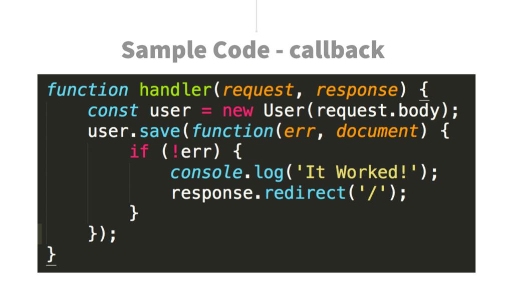 Sample Code - callback