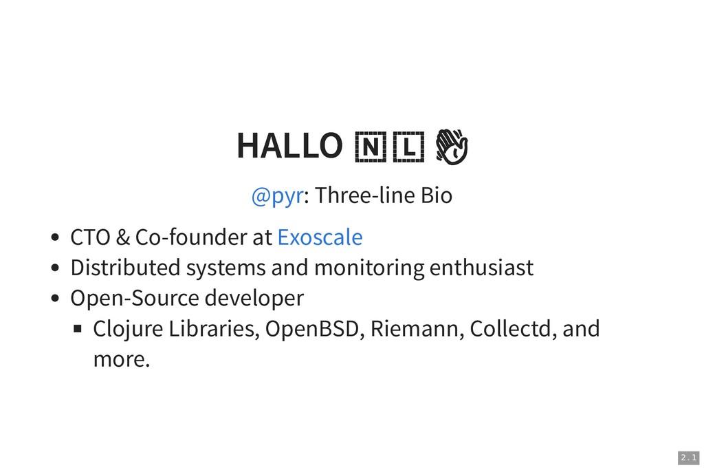 HALLO   HALLO   : Three-line Bio CTO & Co-found...