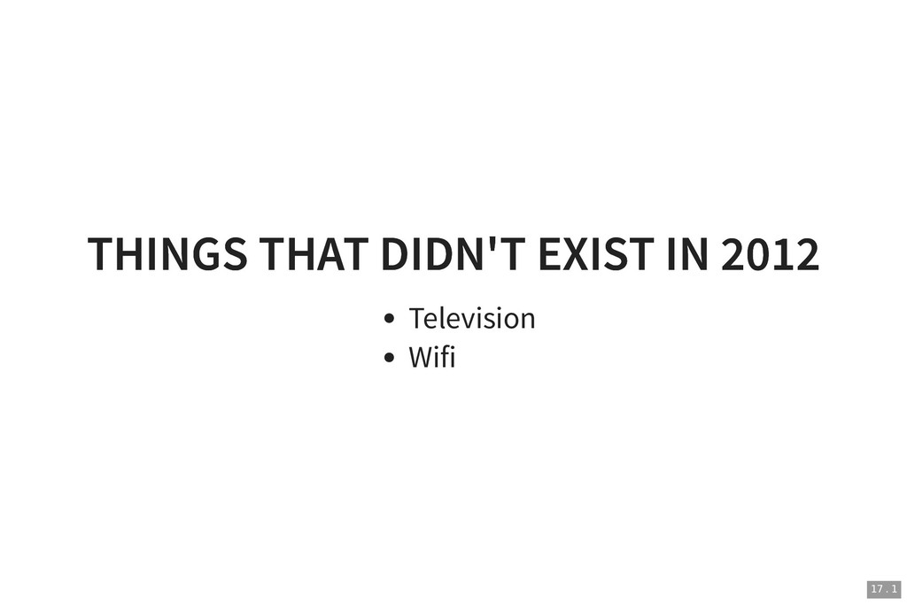 THINGS THAT DIDN'T EXIST IN 2012 THINGS THAT DI...