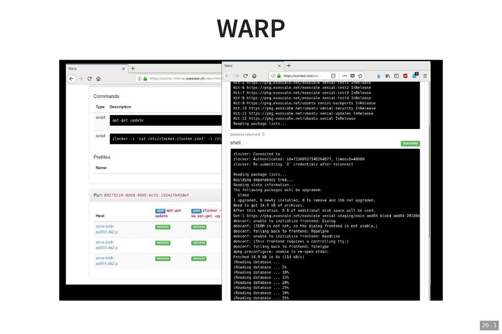 WARP WARP 26 . 1