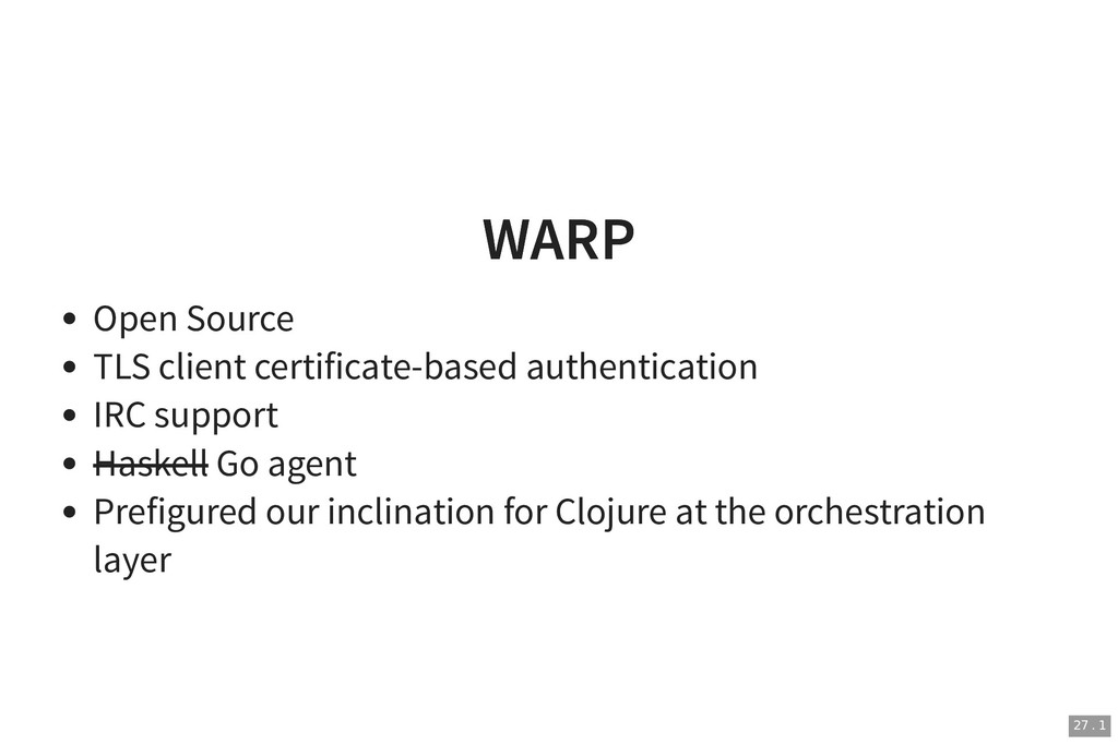WARP WARP Open Source TLS client certificate-ba...