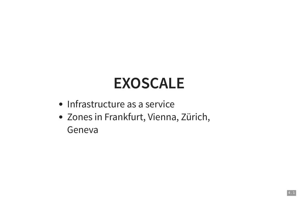 EXOSCALE EXOSCALE Infrastructure as a service Z...