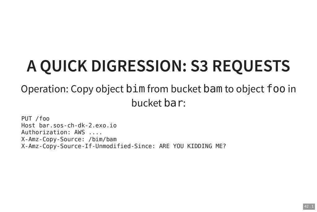 A QUICK DIGRESSION: S3 REQUESTS A QUICK DIGRESS...