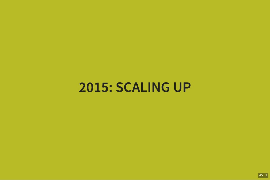 2015: SCALING UP 2015: SCALING UP 45 . 1